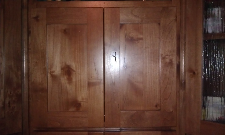 cork flooring in kitchen pegboard shaker style flat panel cabinet doors knotty alder with ...