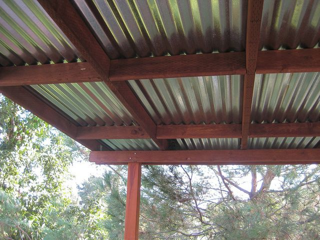 Corrugated Metal Pergola Top Deck Roof By Greenfrieda Via