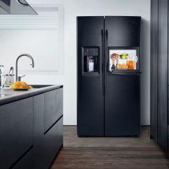 Kitchen Redo Cabinets Cape Coral De Zwarte Amerikaanse Koelkast Gse30vhbtbb Uitgevoerd Met ...