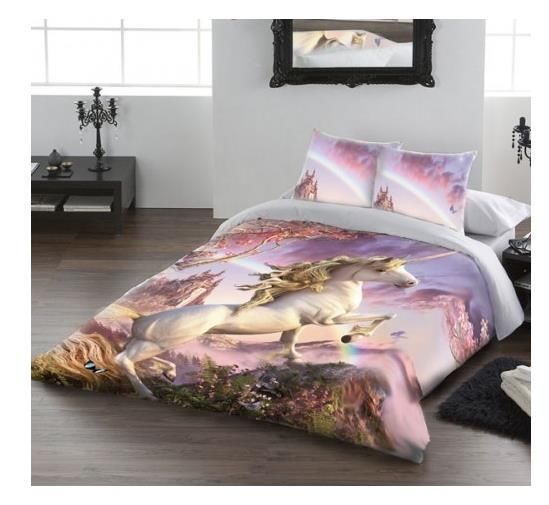 Awesome Unicorn Double Duvet Bed Set Fantasy Unicorn