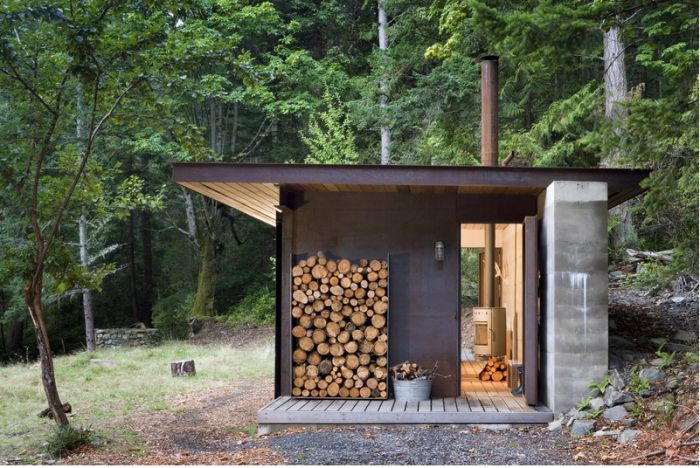 On Salt Spring Island in British Columbia lies a tiny one-room cabin, a finely detailed retreat from Seattle-based Olson Kundig