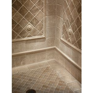 8 Best Images About Showers On Pinterest Shower Pan Mosaic Wall