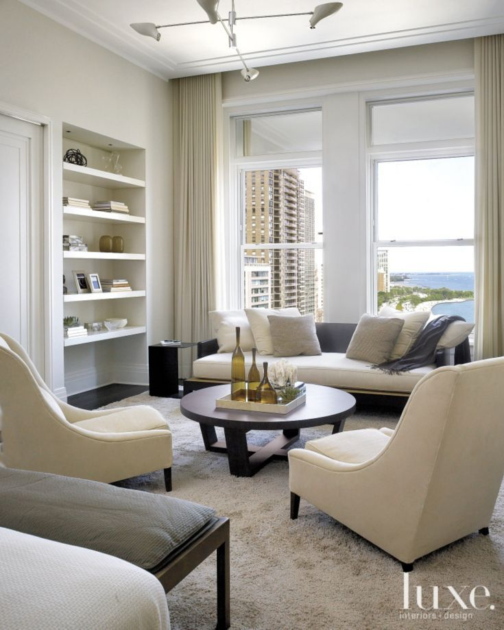 Modern Cream Sitting Area  Luxe  Seating Areas  Pinterest  More Sitting area Modern and