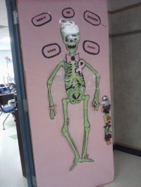 Breast cancer awareness/halloween decoration. Don't be ...