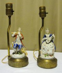 Vintage Occupied Japan Colonial Couple Figurine Lamps ...