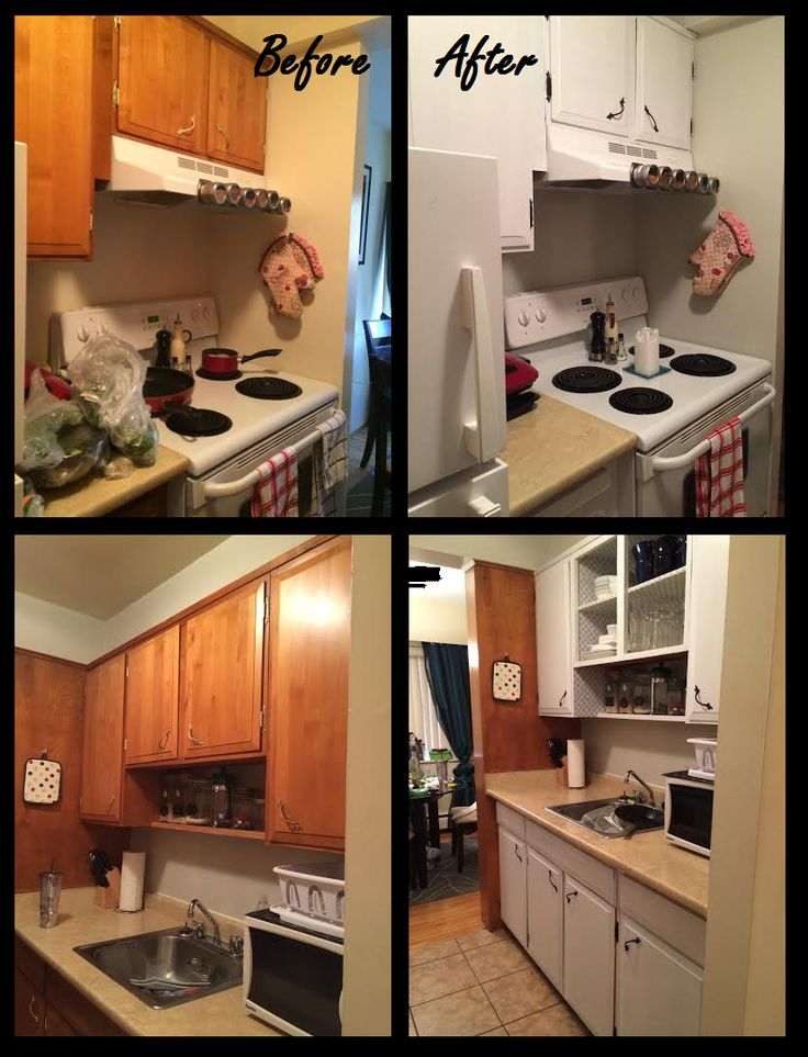 Easy And Cheap Rental Kitchen Makeover A Fresh Coat Of