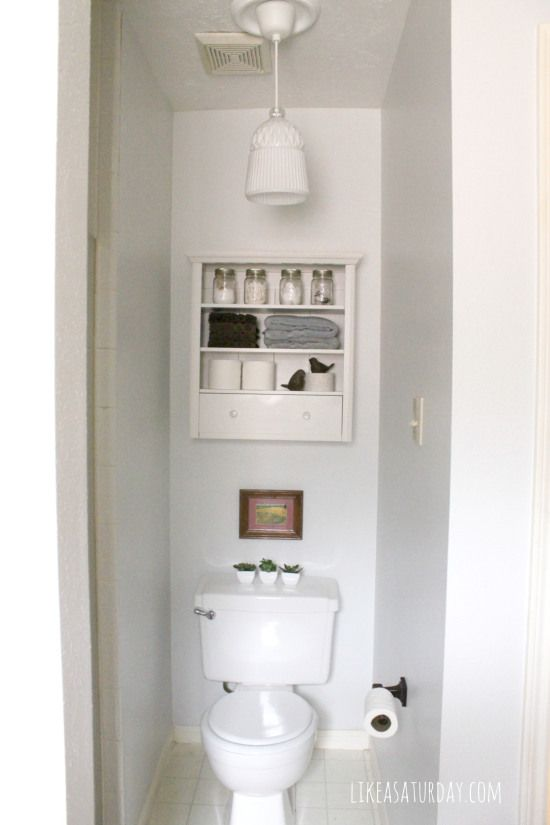 Master Bathroom Nook After Like A Saturday Pinterest Toilets Closet Storage And Pendant