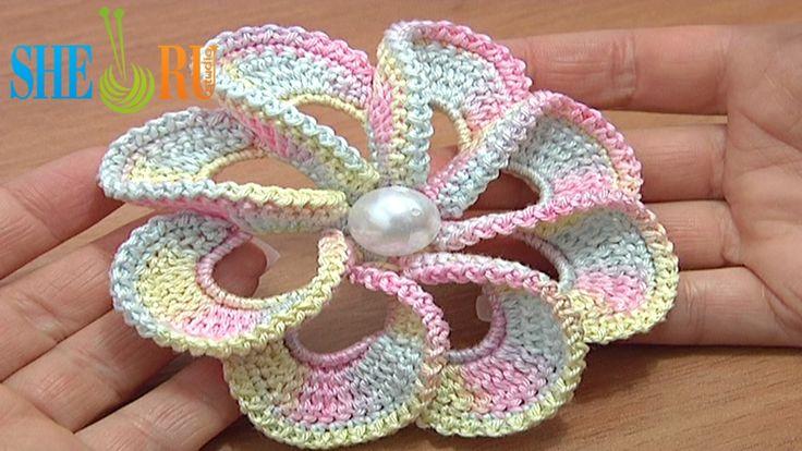 free leaf crochet pattern diagram 2005 ford econoline radio wiring 3d spiral 8-petal flower trim around we invite you to visit https://www.sheruknitting.com/ there ...