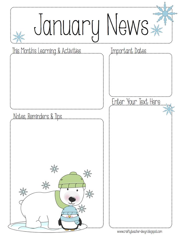 39 best preschool newsletters images on Pinterest