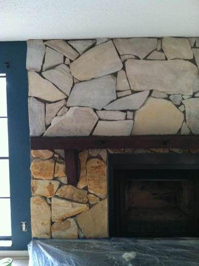Whitewashing fireplace, sto