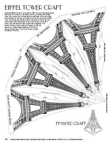 25+ bästa idéerna om Eiffel Tower Craft på Pinterest