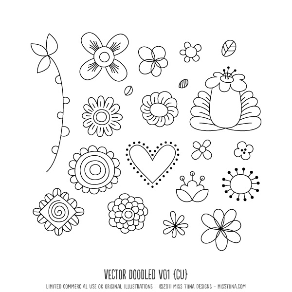 Doodle Step By Step Simple Step By Step Floral Doodles To