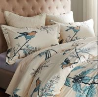 American Country Bird Print Duvet Cover Set Designers ...