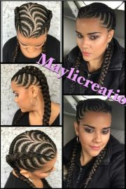 braided cornrows hairstyle urban