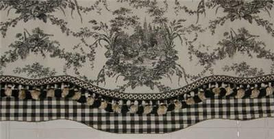 French Country VALANCE Curtain Rooster Waverly La Petite