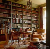 study table in old English library | Libraries That Are ...