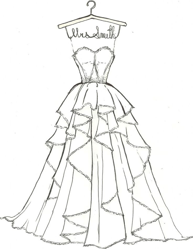 395 best images about Ball gown coloring pages and