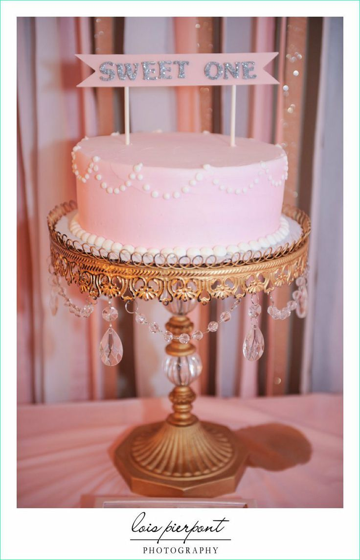 Keiras 1st birthday cake. party first birthday girl Pink and Gold