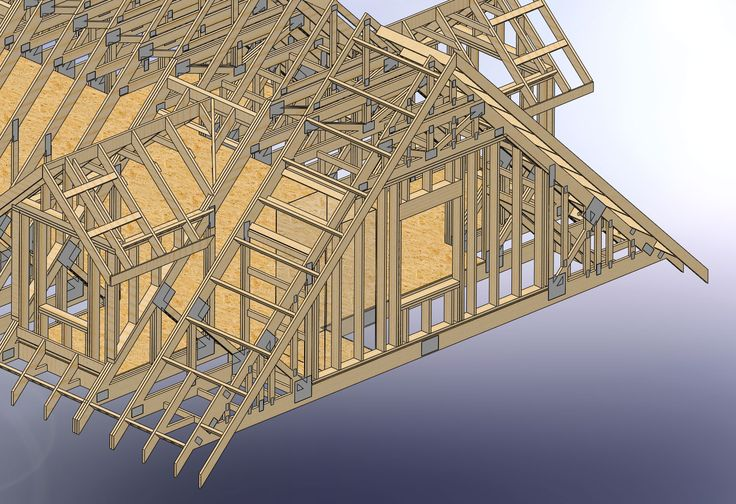 How do you frame stairs with attic trusses  Construction  Pinterest  Best Attic truss and