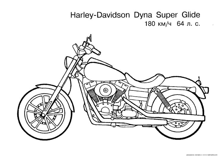 Motorcycles coloring pages 8 / Motorcycles / Kids