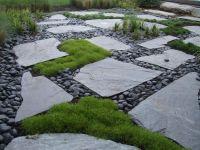 Pavers with Moss & Mexican Pond Pebbles | Lurvey Landscape ...