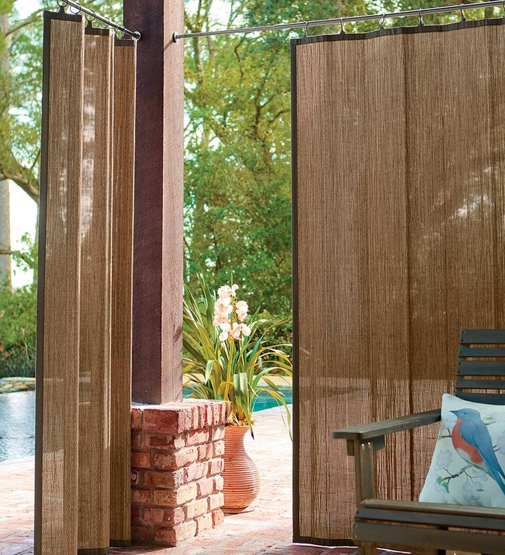 outdoor bamboo curtain panel creates shade and privacy great garden idea for your summer parties