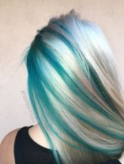 teal turquoise blonde platinum