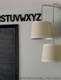 Simple DIY Plug in Drum Pendant Lighting {How to turn a
