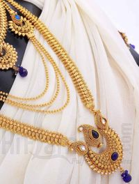 Bridal Jewelry Set with Antique Blue Stones