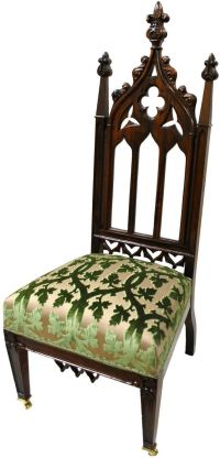 Chapter 6- Furniture. Gothic Revival Chair with ...