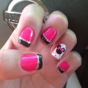 minnie mouse nails . .ls