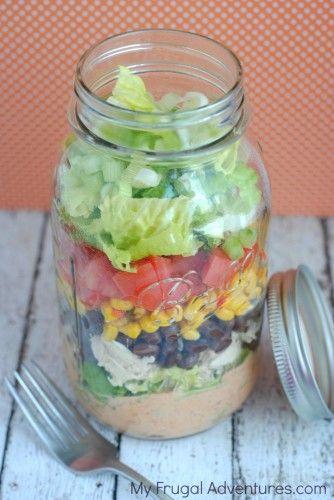 Easy Mason Jar Southwest Salad Reci