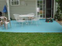 DIY Painting Concrete Patio - Aqua!