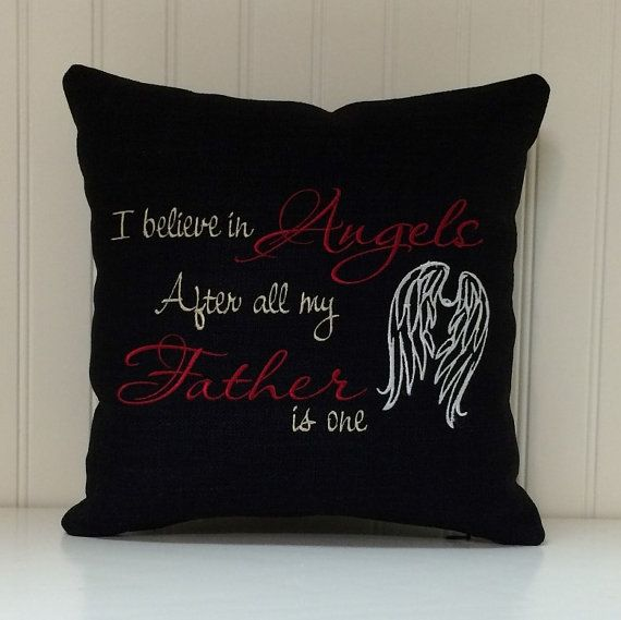 Sympathy Pillow Embroidered Memorial Pillow handmade by