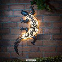solar light gecko wall art | Outdoor LED Furniture ...