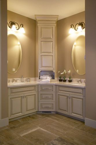 17 Best ideas about Corner Bathroom Vanity 2017 on Pinterest  Hair places near me Master