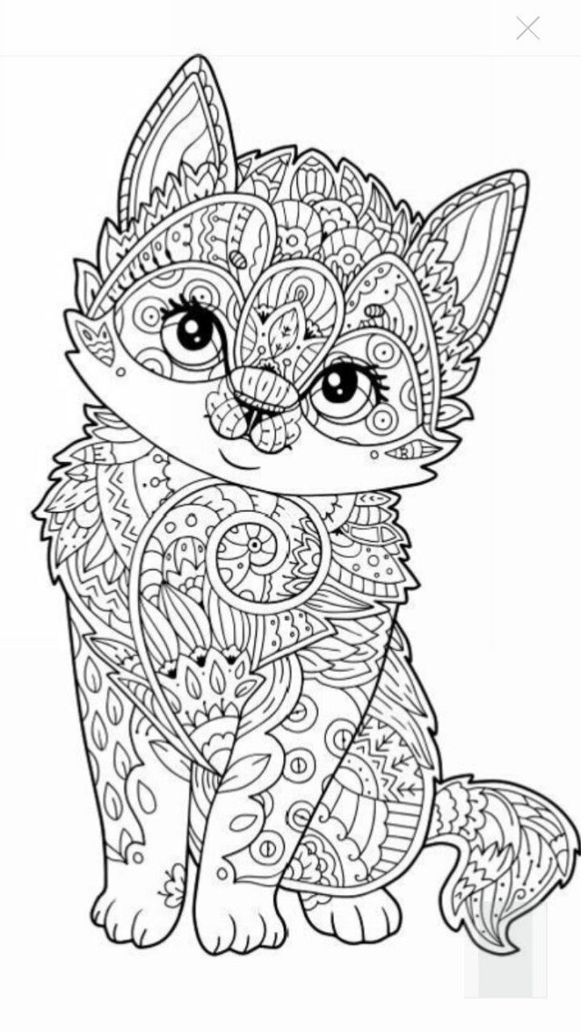 Grown up coloring pages cats in clothes