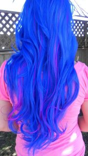blue and neon violet