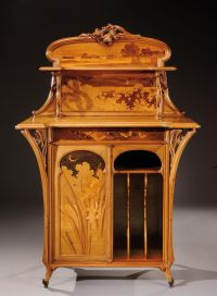 Emile Gall (French, 1846-1904), Nancy, Music Cabinet with ...