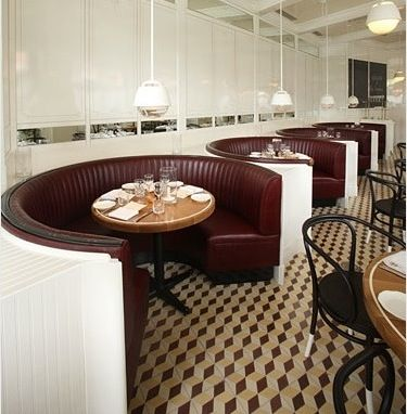 Curved booth seat  Restaurant Interiors  Pinterest