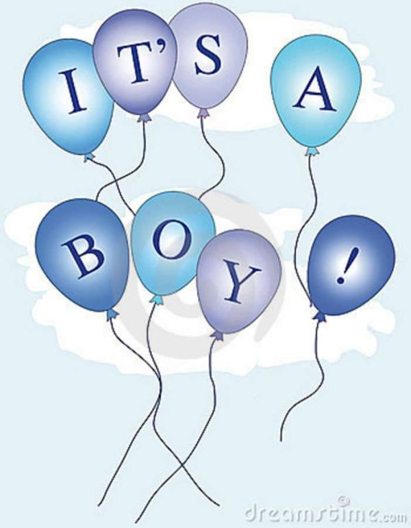 's boy balloons baby tags