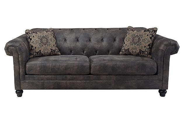quality queen sleeper sofa tuscany leather collection cobblestone hartigan @ ashley furniture - our new ...