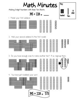 94 best images about Math/Base 10 Blocks on Pinterest