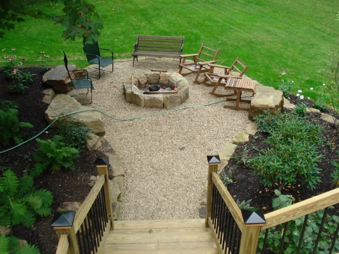 Fire Pit Landscaping Ideas Creative New Home Design Fire Pit Best 25+ Pea Gravel Patio Ideas On Pinterest | Gravel