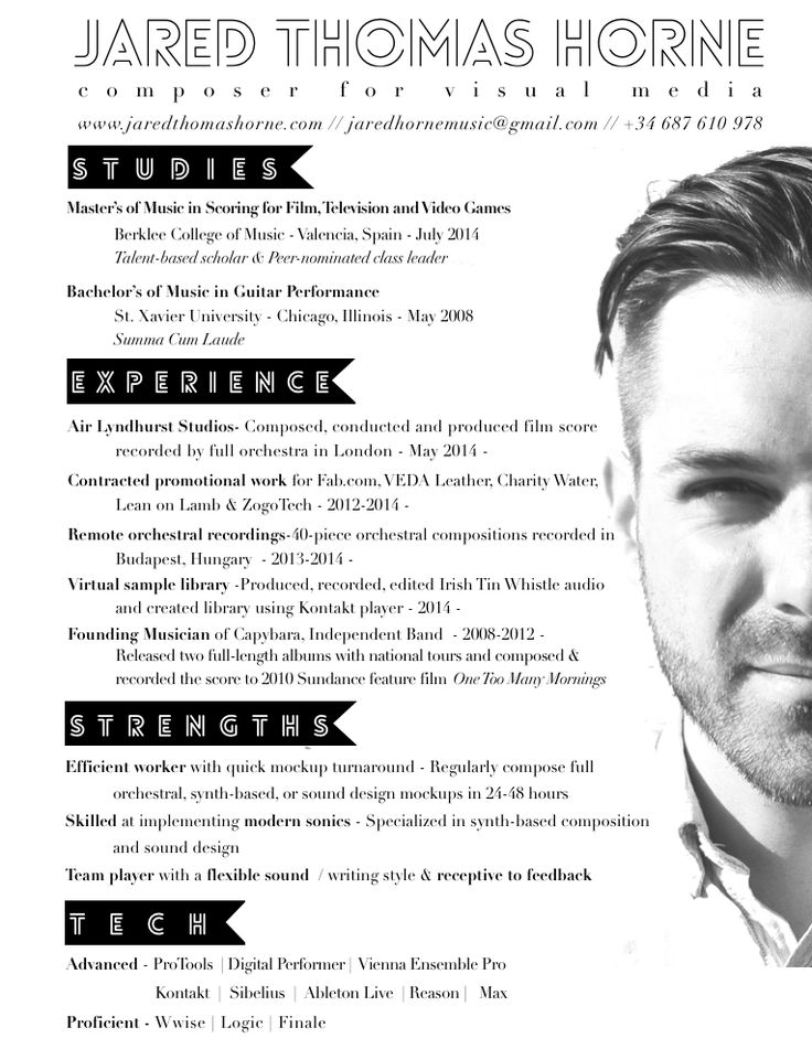 Unique CV With Photo Creative Resume Idea Unique CV