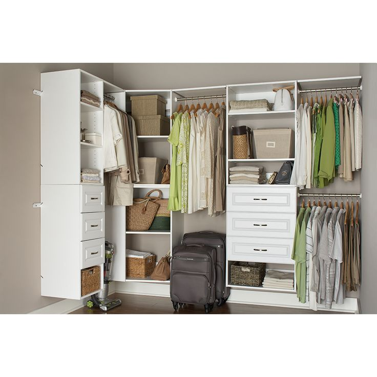 Shop ESTATE by RSI 95ft x 3ft White Wood Closet Kit at