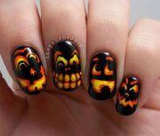 scary-halloween-pumpkins-nail-art-design -ideas