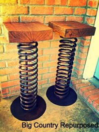 Repurposed industrial bar stools | Industrial bars, Spring ...