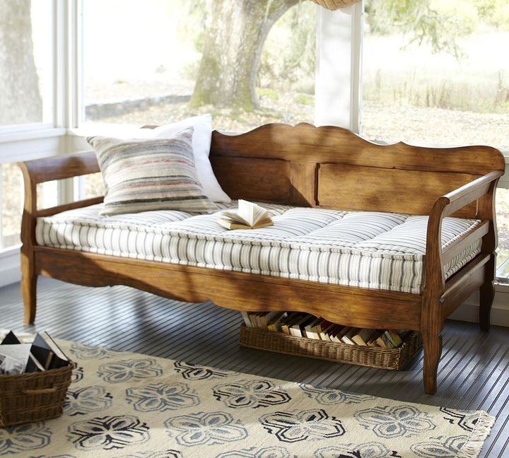 deep sofa daybed white microfiber futon bed pottery barn darby for sale | the home ...