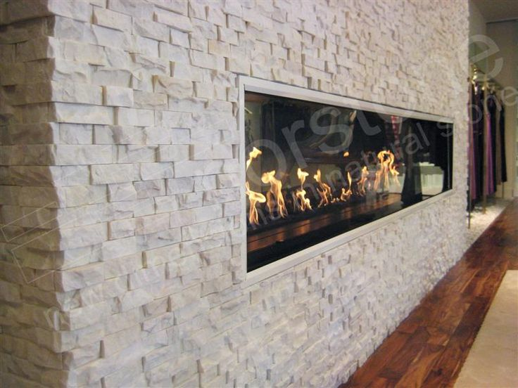 Stacked Stone Fireplace Surround  WoodWorking Projects  Plans